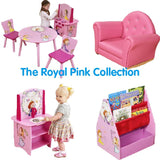 This multipurpose bookcase, easel and storage unit is part of the Royal Pink Collection of children's furniture