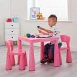 Chunky & Funky Plastic Kid's | Children's Activity Table & 2 Chair Set | Hot Pink