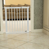 Baby gates normally have a 3cm threshold but our Flat Step gate is safer with a thin step over-bar, reducing risk of tripping