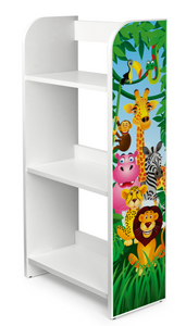 Kids Jungle Joy BookCase | Childrens Bookcase | Kids Bookshelf | White | 1.02m High