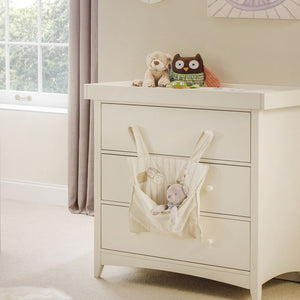 Ivory baby changing unit from Little Helper has a clean classic look to suit a wide variety of nursery styles