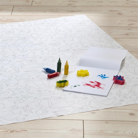 This Origami Splash Mat is waterproof - making it super easy and hassle-free to clean!