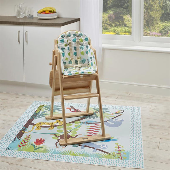 This waterproof splash mat protects your floor from all the mess that comes with meal time, potty training or arts sessions.