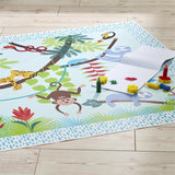 Super colourful this will amuse and delight your tot with this tropical rainforest jungle design.