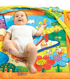 Our 'Summery Sunshine' play mat will encourage baby's development and attract their curiosity, whether on tummy or on back.
