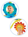 Tap and play musical sun with three playful tunes and mirror for extended tummy-time