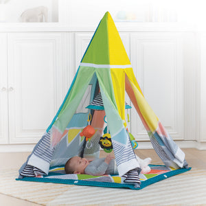 Grow-with-me Baby & Toddler Activity Gym, Play Mat, Baby Gym & Teepee for Newborns up to 4 years with multi functional mobile