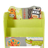 Super cute & colourful bookcase and toy storage unit for the animal loving tot