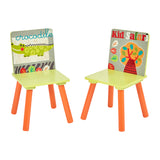 Kids | Children's Colourful Wooden Safari | Jungle Table and Chair Set