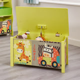 This large toy box is a great storage idea for any child's bedroom or play room.