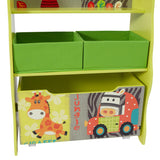 2 removable fabric bins, would look great in any child's bedroom or playroom.