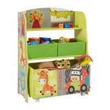 This handy toy storage unit, complete with roll-out toy chest