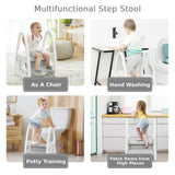 This multi functional step stool takes a weight of up to 50kg so perfect for little ones and grown ups
