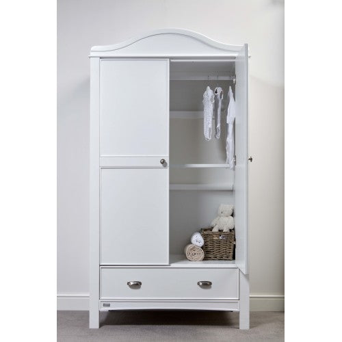 It includes two full-width hanging rails and a large drawer to keep everything beautifully organised.
