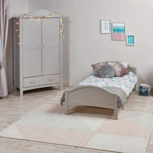 Childrens Eclipse French grey bed with curved headboard & footboard is perfect for your little one to feel grown up!