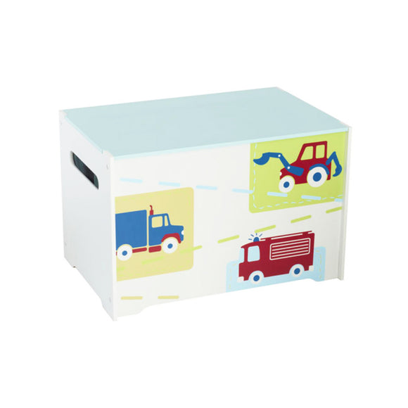 Tidy up time will be part of play time with our fabulous 'Trucks n Tractors' vehicles toy box, ideal for kids' bedrooms and play room