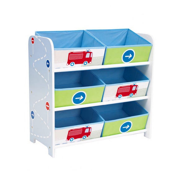 Our attractive 6 Bin Trucks n Tractors Toy Storage unit will make tidying up a pleasure rather than a chore for your little ones