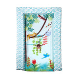 This tropical print baby change mat will keep your baby delighted and secure