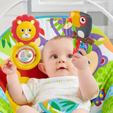 Removable toy bar & 3 spinning toys featured on this Grow-with-Me Fisher Price Baby Rocker