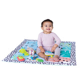 4 modes: Lay & play, tummy time, sit & play, and milestone photo prop