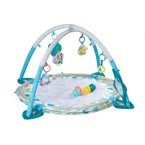 Babies will love our 'Tropical Treetops' newly improved transforming 3-in-1 Jumbo Baby Play Mat & Ball Pit.