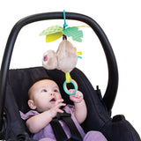 Remove the super cute objects that hang from the arches and attach to baby's pram or car seat for  more interaction