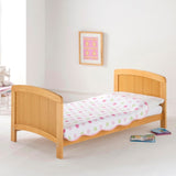 The sides of the cot bed are easily removable, allowing you to convert the cot bed into a grown up toddler bed!