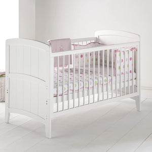 The Lullaby Cot Bed features tongue and groove look end panels with a gentle curved shape, making it stylish and practical.