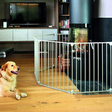 Suitable for extra-wide spaces in different combinations, our modular stair gate is ideal for babies and pets
