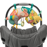 The set also includes a head rest as well as super cute rainforest animals which can also be clipped onto babys car seat