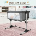 Two mesh sides offer good ventilation and allows you to observe your baby anytime