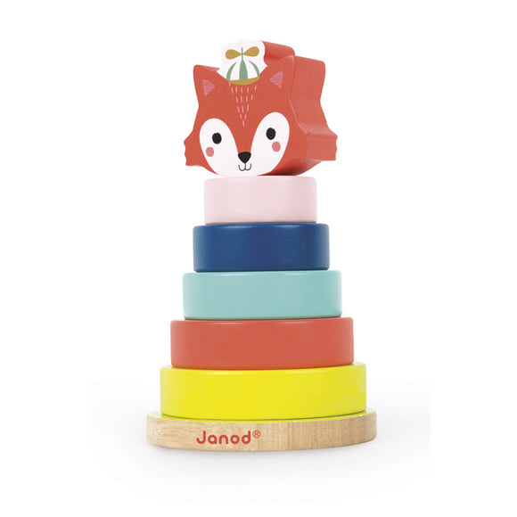 This luxury 7-piece wooden stackable toy from the Baby Forest range is perfect for developing baby's fine motor skills, co-ordination and dexterity.