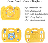 This baby playpen comes with a game panel which includes lots of interactive elements to delight and amuse baby