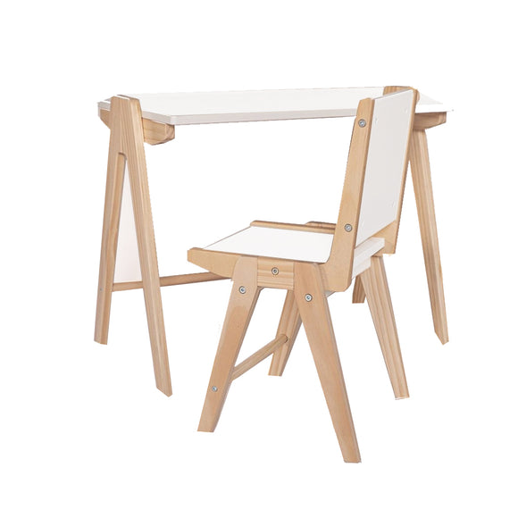 Scandi-Style Children's | Kids  Wooden Table and Chair | Solid Wood | 3-8 Years