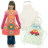 Use an iron to heat seal the design onto the apron - let your diddy designer loose!