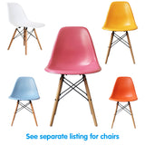 Mix and match with different coloured chairs or obtain matching colours.