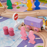 Each piece of this 100pc wooden train set is beautifully crafted in lovely colours to delight while standing the test of time