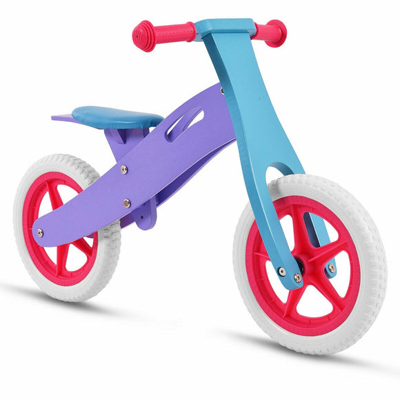An Eco-Friendly, Height Adjustable Non-Toxic Kids Wooden Balance Bike for childrens aged 2-5 years