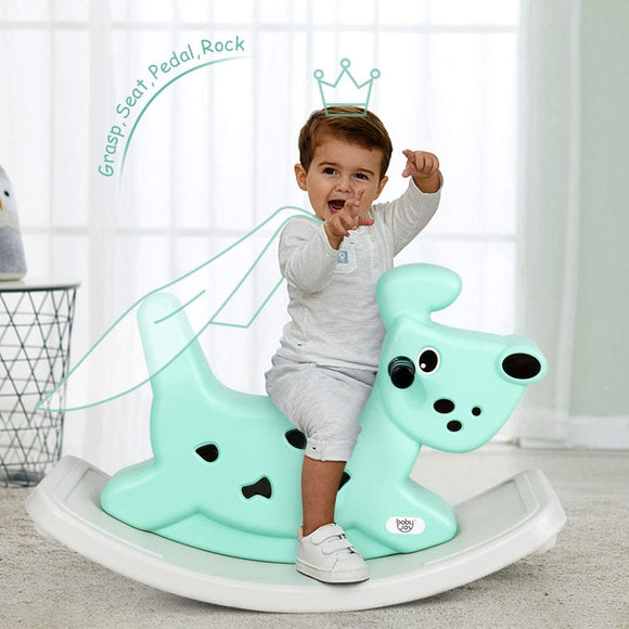 Baby & Toddler Rocking Horse Dog | Ride On Toy with Grip Handles | Music | Lights