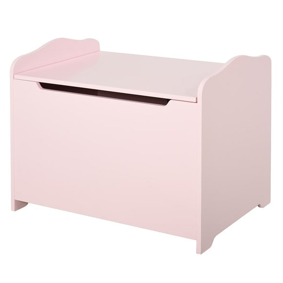 Give them someplace to store their stuff to put the brakes on things! with this pink toy storage box
