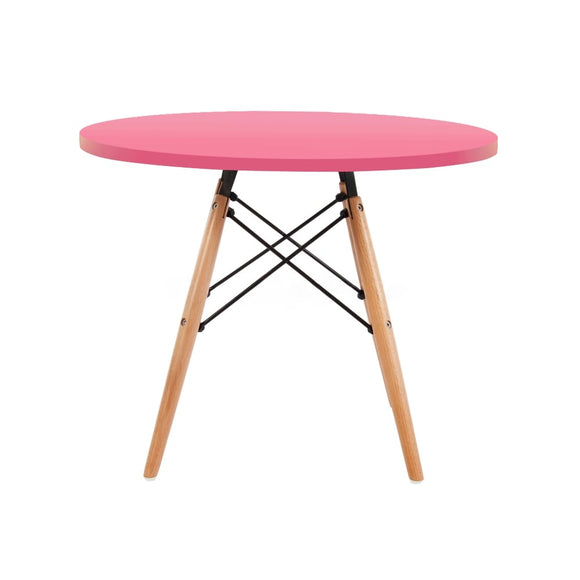 Our Kids Round Eiffel range is stylish and modern, available in a range of colours with wooden legs
