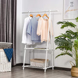 This dressing rail is modern and fresh and ideal for adults and kids' rooms alike