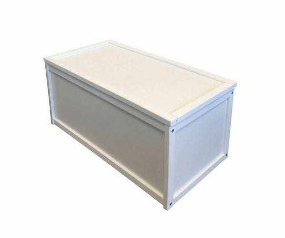 Wooden Toy Box | Toy  Chest | Blanket Box | Ottoman with Removable Lid | White