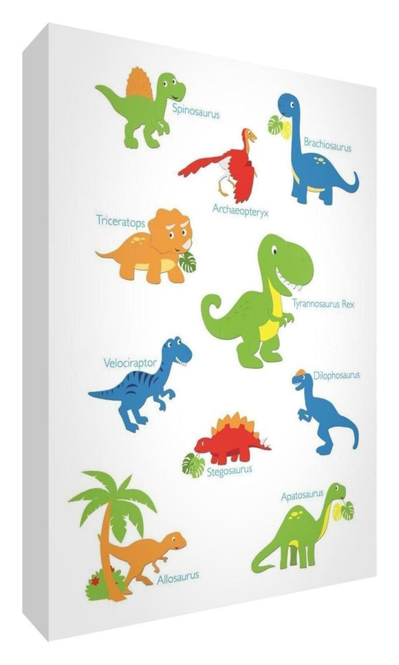Nursery wall art designs - woodland animals, dinosaurs, fairies and more from a nursery canvas to nursery wall stickers and nursery prints