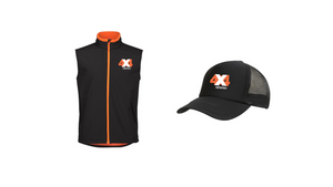 4x4 Indistress Adult Vest and Hat Bundle | FREE Navy Stubbie Cooler