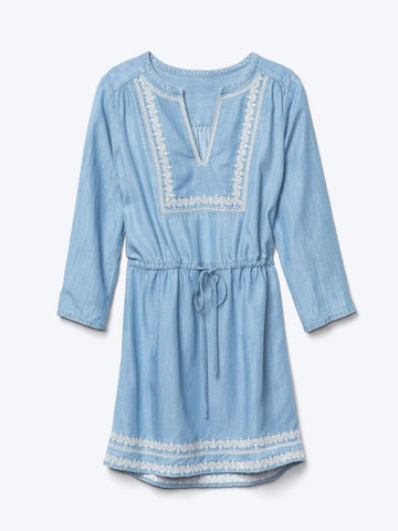 Tencel embroidered dress