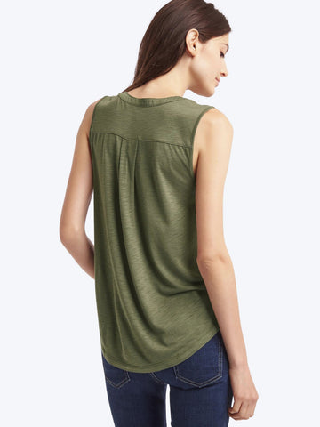 Drapey split-neck tank