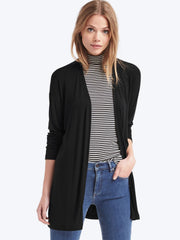 Cozy modal open-front cardigan