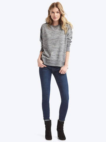 Slouchy pullover sweatshirt