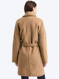 Plush shawl collar coat
